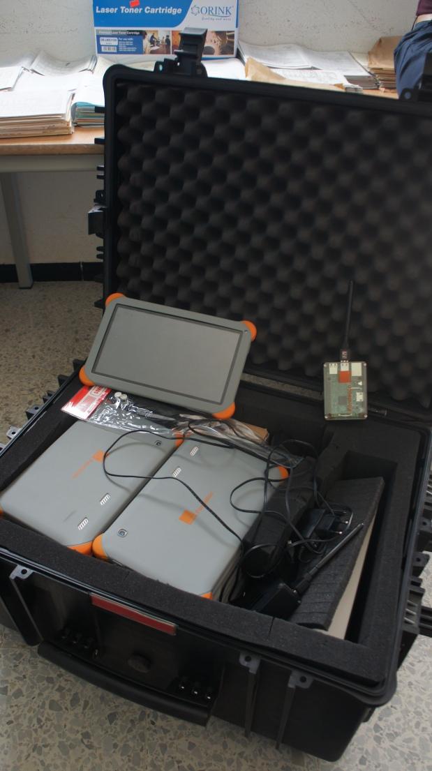 Les 50 tablettes et leur valise protectrice